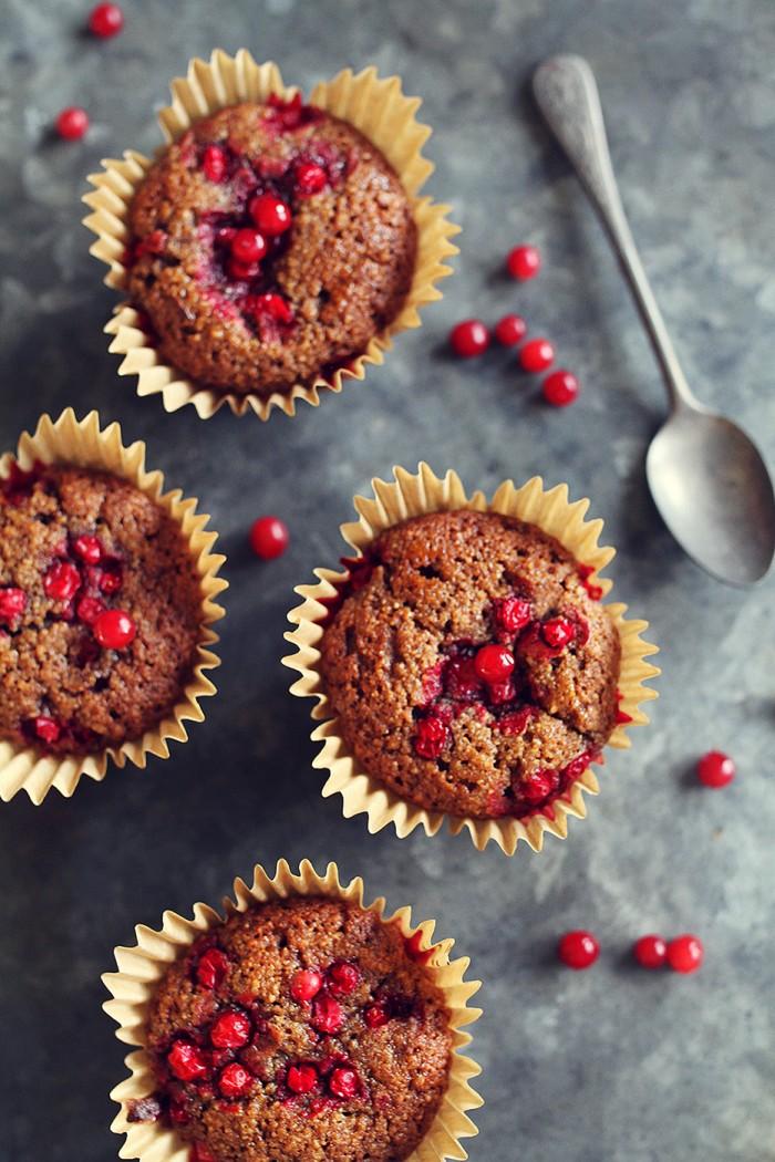 Mjukpepparkaka - Muffins med Lingon (Glutenfria)