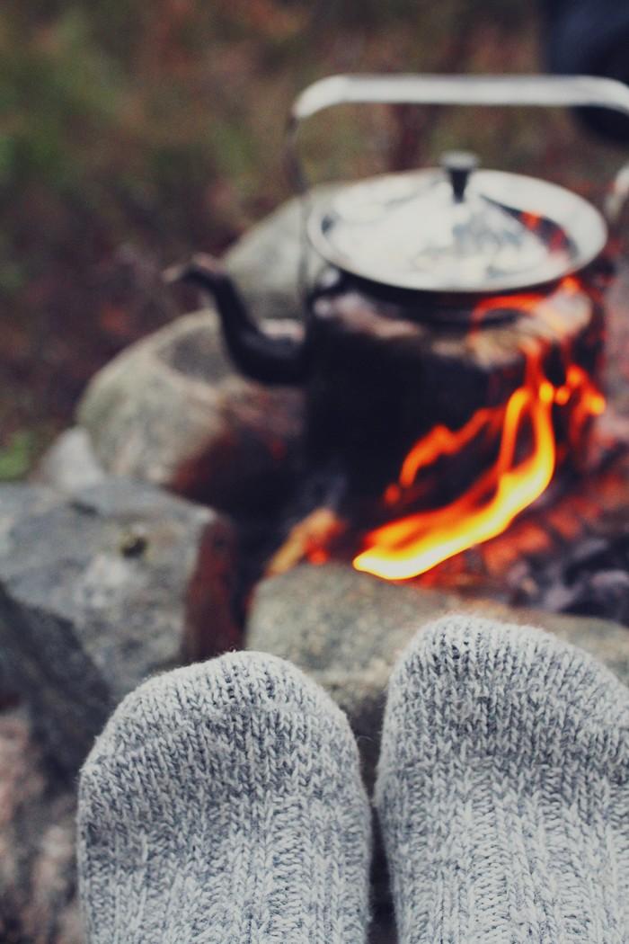 Värma fötterna vid elden - Evelinas Ekologiska