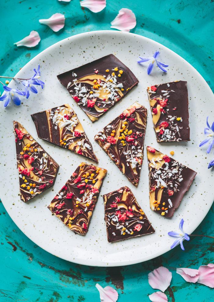 Choklad med jordnötsswirl - Evelinas Ekologiska